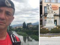 A piedi da Bolzano alla Sicilia per onorare i caduti. Pasquale Trabucco fa tappa nel Vallo di Diano