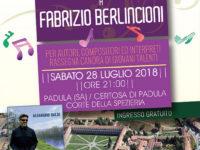 """Padula: domani la serata finale del Premio Musicale """"Fabrizio Berlincioni"""""""