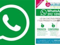 Attivato alla Farmacia Di Muria di Padula Scalo il servizio WhatsApp per la prenotazione dei farmaci