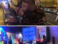 Scontro tra camion in A2. Gravemente ferito un 47enne