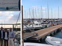 Taglio del nastro dei nuovi pontili della Lega Navale a Salerno. Banca Monte Pruno supporta il progetto