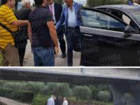Il Presidente Canfora percorre l'ex S.S.19 ter per verificare le condizioni della strada e del viadotto