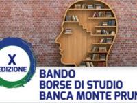 Banca Monte Pruno. Al via il bando per la X edizione delle borse di studio per diplomati e laureati