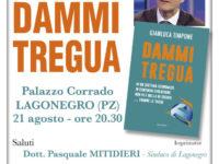 """Questa sera a Lagonegro presentazione del libro """"Dammi tregua"""" di Gianluca Timpone"""
