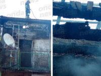 Fabbricato avvolto dalle fiamme a Montesano. I Vigili del Fuoco evitano il peggio