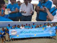 Il ministro dell'Ambiente Sergio Costa ad Eboli per la campagna #iosonoplasticfree