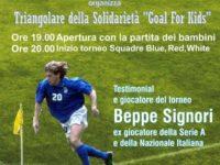 Domani a Sapri il torneo Goal For Kids. Protagonista l'ex giocatore Nazionale Italiana Beppe Signori
