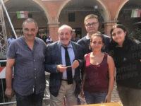 """Gli studenti del """"Pomponio Leto"""" di Teggiano ricevuti dal filosofo Umberto Galimberti a Sassuolo"""