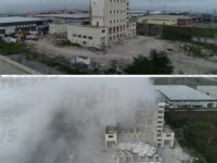 Demolita struttura nella Zona Industriale di Polla adibita ad impianto molitorio. Il video