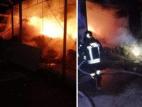 Fienile in fiamme ad Agropoli. Intervengono i Vigili del Fuoco