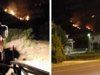 Vasto incendio ad Ispani in località Serriere. Intervengono i Vigili del Fuoco