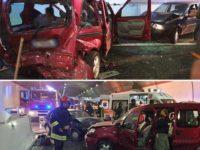 Violento scontro tra 2 veicoli in A2 tra Lagonegro e Padula. 6 feriti di cui uno in codice rosso