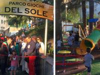 """Inaugurato a Vietri di Potenza il """"Parco giochi del Sole"""" nei giardini comunali di piazza dell'Emigrante"""