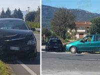 Padula: scontro tra due auto sulla Strada Statale 19. Quattro persone coinvolte