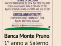 """Banca Monte Pruno. Sulle pagine de """"Il Sole 24 Ore"""" il primo anno di successi della Filiale di Salerno"""