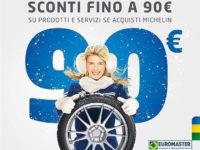Atena Lucana: sull'acquisto di pneumatici da Euromaster Marchesano sconti su servizi fino a 90 euro