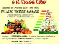 Domani l'Associazione Vola Sassano discute di Dieta Mediterranea e buon cibo