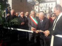 Vincenzo De Luca a Polla per l'inaugurazione della piazza intitolata a Monsignor Antonio Forte