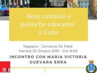 Teggiano: domani la sorella di Che Guevara discute di beni culturali e politiche educative a Cuba