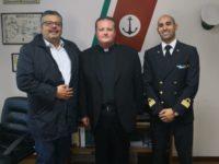 Il Cappellano Militare Capo don Claudio Mancusi fa visita alla Guardia Costiera di Agropoli