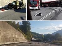 Violento scontro tra auto e camion sulla Fondo Valle Sele. Feriti un autista cilentano e una calciatrice