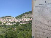 Ritrovato in un deposito comunale a Santomenna un atto del 1800 riguardante l'adozione di un orfano
