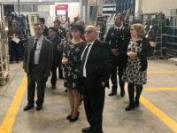 Il Prefetto di Salerno Francesco Russo visita l'azienda Sidel di Buonabitacolo