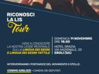 """Domani il tour """"Riconosci la LIS"""" promosso dal Movimento 5 Stelle fa tappa ad Eboli"""