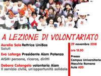 """Domani """"A lezione di volontariato"""" con la sezione AISM di Potenza"""