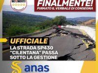 """La SP430 """"Cilentana"""" e la Statale 19 ter Vallo di Diano passano all'Anas. Castiello: """"Firmata l'Intesa"""""""
