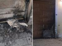 Vandali incendiano il portone del Municipio di Ispani. Indagano i Carabinieri