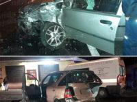 Incidente sulla S.S.19 ad Atena Lucana. Scontro tra due auto e un furgone, due persone ferite