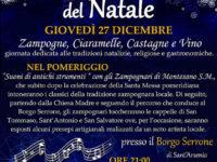 A Sant'Arsenio una giornata dedicata alle tradizioni natalizie con zampogne, ciaramelle, castagne e vino