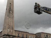 Nel centro storico di Teggiano il tradizionale omaggio floreale dei Vigili del Fuoco a San Cono
