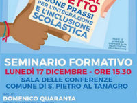 """San Pietro al Tanagro: domani l'incontro """"Educare al rispetto"""" su integrazione e inclusione"""