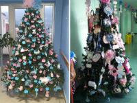 A Sapri e Polla alberi di Natale con fiocchi e nomi dei bimbi nati contro la chiusura dei Punti Nascite