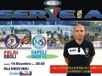 L'arbitro Gianpiero Cafaro della sezione AIA di Sala Consilina su Sportitalia per la Serie A Calcio a 5