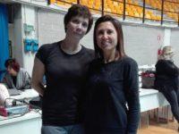 Rosaria Bruno della Kodokan Ginnastica tra le partecipanti di un master con il tecnico Irina Zenovka