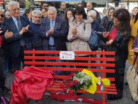 Inaugurata a Salerno la seconda panchina rossa come segno di ripudio a ogni forma di violenza