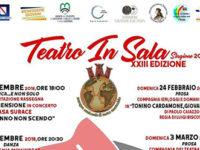 """Al via l'8 dicembre a Sala Consilina la XXIII edizione della rassegna """"Teatro in Sala"""""""