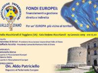 Teggiano: il 19 gennaio si discute di fondi europei con l'eurodeputato Aldo Patriciello