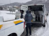 Maltempo e neve. I volontari delle associazioni di Caggiano impegnati per l'assistenza domiciliare