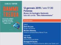 """Potenza: il 12 gennaio la Banca Monte Pruno presenta il libro """"Dammi tregua"""" di Gianluca Timpone"""