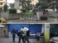 """Edoardo Stoppa aggredito da un cubano a Battipaglia. Le immagini in onda a """"Striscia la Notizia"""""""