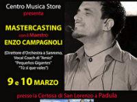 Padula: il 9 e 10 marzo Centro Musica Store presenta Mastercasting con il Maestro Enzo Campagnoli