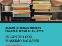 Dal carcere al teatro. Domani ad Auletta l'autore Massimo Balsamo racconta il suo libro autobiografico