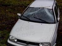 Sant'Arsenio: auto perde il controllo e finisce fuori strada in un terreno. Ferito un uomo del posto