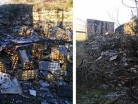 Buccino: i Forestali sequestrano una discarica abusiva nel Cimitero. Denunciato il responsabile