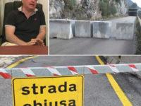 """Blocchi di cemento lungo la S.P.342 Roscigno-Sacco. Latempa:""""Situazione vergognosa che dura da 8 anni"""""""
