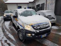 Neve a Caggiano. In azione i volontari della Protezione Civile Gopi-Anpas